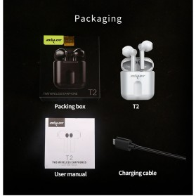 Zealot TWS Earphone True Wireless Bluetooth 5.0 with Charging Dock - T2 - Black - 10