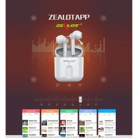 Zealot TWS Earphone True Wireless Bluetooth 5.0 with Charging Dock - T2 - Black - 4
