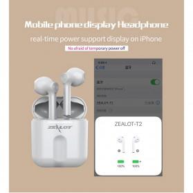Zealot TWS Earphone True Wireless Bluetooth 5.0 with Charging Dock - T2 - Black - 9