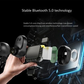 Zealot TWS Earphone True Wireless Bluetooth 5.0 with Charging Dock - T1 - Black - 3