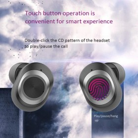 Zealot TWS Earphone True Wireless Bluetooth 5.0 with Charging Dock - T1 - Black - 4