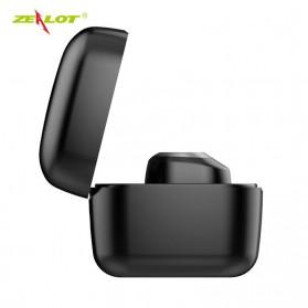 Zealot TWS Earphone True Wireless Bluetooth 5.0 with Charging Dock - T1 - Black - 9