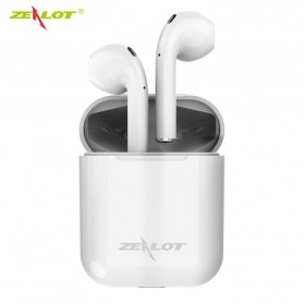 Zealot TWS Earphone True Wireless Bluetooth 5.0 with Charging Dock - H20 - White