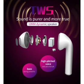 Zealot TWS Earphone True Wireless Bluetooth 5.0 with Charging Dock - H20 - White - 8
