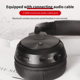 Zealot Headphone Wireless Bluetooth 5.0 Super Bass ANC Active Noise Canceling with Mic - B36 - Black - 10
