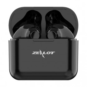 ZEALOT Earphone TWS Bluetooth 5.0 Touch Control with Charging Base - T3 - Black - 1
