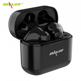 ZEALOT Earphone TWS Bluetooth 5.0 Touch Control with Charging Base - T3 - Black - 2