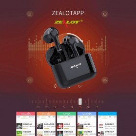 ZEALOT Earphone TWS Bluetooth 5.0 Touch Control with Charging Base - T3 - Black - 6