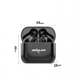 ZEALOT Earphone TWS Bluetooth 5.0 Touch Control with Charging Base - T3 - Black - 7