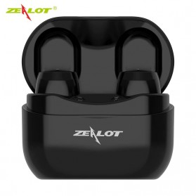 ZEALOT Earphone TWS Bluetooth 5.0 Touch Control with Charging Base - T4 - Black - 1