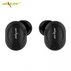 ZEALOT Earphone TWS Bluetooth 5.0 Touch Control with Charging Base - T4 - Black - 2