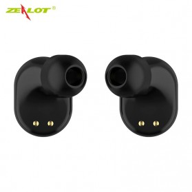 ZEALOT Earphone TWS Bluetooth 5.0 Touch Control with Charging Base - T4 - Black - 3