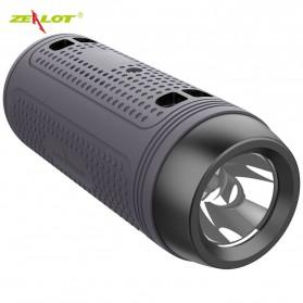 Zealot Portable Wireless Bluetooth Bicycle Speaker Flashlight Radio - A1 - Gray - 1