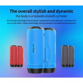 Zealot Portable Wireless Bluetooth Bicycle Speaker Flashlight Radio - A1 - Gray - 2