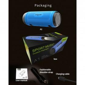 Zealot Portable Wireless Bluetooth Bicycle Speaker Flashlight Radio - A1 - Gray - 7