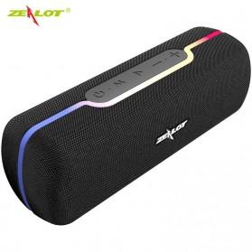 Zealot Portable Bluetooth Speaker RGB LED Effect - S55 - Black - 1