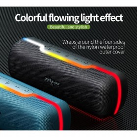 Zealot Portable Bluetooth Speaker RGB LED Effect - S55 - Black - 2