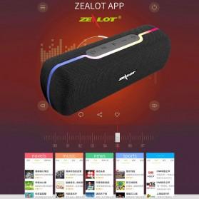 Zealot Portable Bluetooth Speaker RGB LED Effect - S55 - Black - 4
