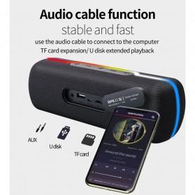 Zealot Portable Bluetooth Speaker RGB LED Effect - S55 - Black - 6