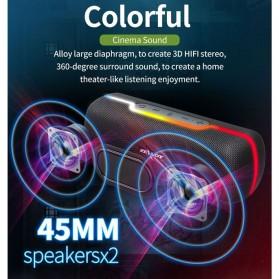 Zealot Portable Bluetooth Speaker RGB LED Effect - S55 - Black - 9