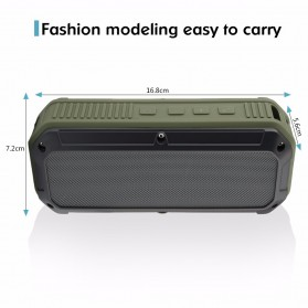 CRDC S200C Wireless Bluetooth Speaker Waterproof IPX6 - Green - 9