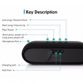 CRDC S202C Wireless Bluetooth Speaker Waterproof IP65 - Black - 7