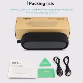 CRDC S202C Wireless Bluetooth Speaker Waterproof IP65 - Black - 9