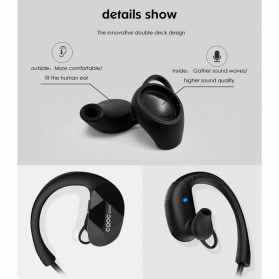 CRDC Earphone Bluetooth Sporty - EP-B34 - Black - 3