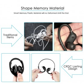CRDC Earphone Bluetooth Sporty - EP-B34 - Black - 6