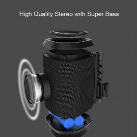 BUBM Portable Bluetooth Speaker Outdoor - M12 - Black - 8