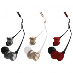 WK Wired Stereo Earphone with Microphone - WI300 - Black - 4