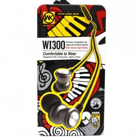 WK Wired Stereo Earphone with Microphone - WI300 - Black - 5