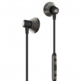 WK Wired Stereo Earphone with Microphone Control - WE380 - Gray