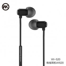 WK Wired Stereo Earphone with Microphone Control - WI520 - Black