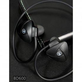WK Earphone Sport Bluetooth - BD600 - Black - 2