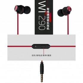 WK Wired Earphone - WI290 - Black - 3
