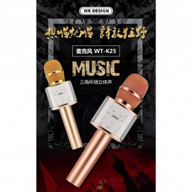 WK Microphone Speaker Karaoke - WT-K25 - Black - 2