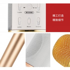 WK Microphone Speaker Karaoke - WT-K25 - Black - 3