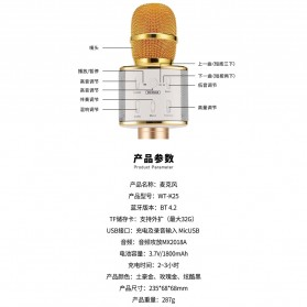WK Microphone Speaker Karaoke - WT-K25 - Black - 8
