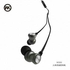 WK Wired Earphone - WI-300 - Black