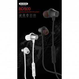 WK Earphone Bluetooth Magnetic with Microphone - BD500 - Black - 8