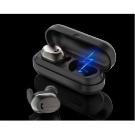 WK Dual TWS Airpods Earphone Bluetooth dengan Charging Case - BD800 - Black - 3