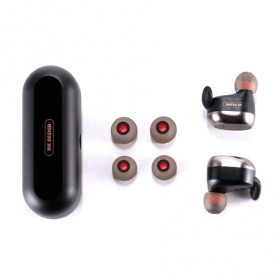 WK Dual TWS Airpods Earphone Bluetooth dengan Charging Case - BD800 - Black - 6