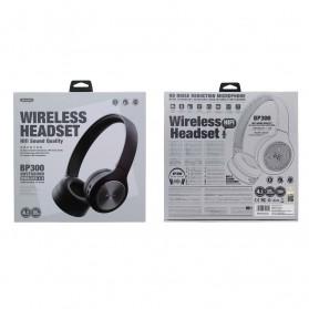 WK Audio Series Bluetooth Wireless Headset - BP300 - Black - 3