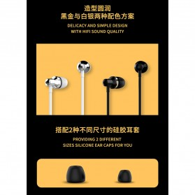 WK Music Earphone with Microphone - WI90 - Black - 7