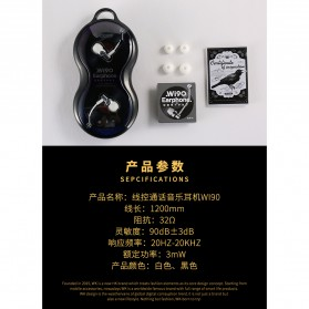 WK Music Earphone with Microphone - WI90 - Black - 9