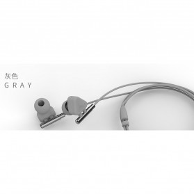 WK Music Earphone with Microphone - WI380 - Gray