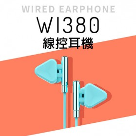 WK Music Earphone with Microphone - WI380 - Gray - 2