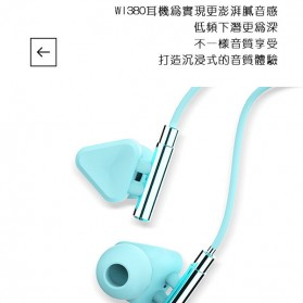 WK Music Earphone with Microphone - WI380 - Gray - 3