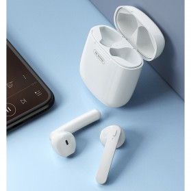 WK TWS Airpods Earphone Bluetooth with Charging Case - V18 - White